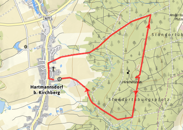 Wanderung rund um den Hirschenstein 10 km